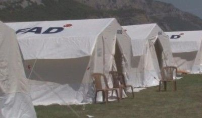 AFAD'dan Milas'ta yangınzedeler için çadır