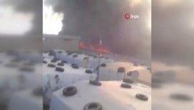 Lübnan'da mülteci kampında yangın