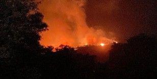 Kıyıkışlacık Gürçamlar bölgesindeki yangın Kazıklı'ya doğru ilerliyor