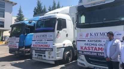 KAYMOS, Kastamonu ve Sinop'a 13 TIR gönderdi