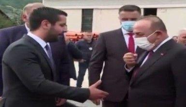 Bakan Çavuşoğlu, Yeni Pazar-Tutin yolunda Taşyapı şantiyesini ziyaret etti
