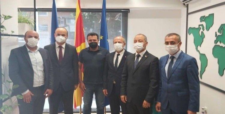Vali Canalp, Kuzey Makedonya Başbakanı Zaev ile görüştü