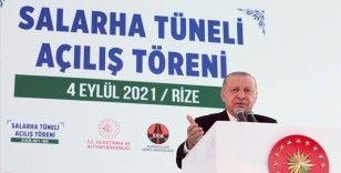 Cumhurbaşkanı Erdoğan: Salarha Tüneli Rize'nin 70 yıllık hayalidir