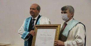 KKTC Cumhurbaşkanı Ersin Tatar'a 'Fahri doktora' unvanı