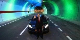 Cumhurbaşkanı Erdoğan: 19 yılda 567 kilometre uzunluğunda 364 tüneli hizmete açtık