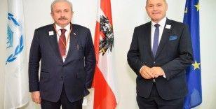 Şentop, Avusturya'da Meclis Başkanı ve Parlamentolar Arası Birlik Başkanı ile bir araya geldi