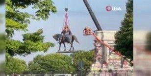 ABD'de Floyd protestolarında hedef alınan bir heykel daha kaldırıldı