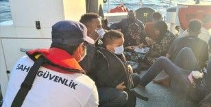 Aydın'da Türk kara sularına itilen 53 düzensiz göçmen kurtarıldı