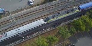 Tuzla'da Yüksek Hızlı tren, başka bir trenle kafa kafaya çarpıştı