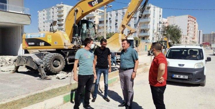 Kızıltepe Stadyum Caddesi'nde asfaltlama çalışmaları başladı