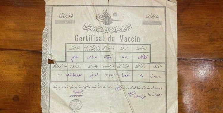 Kadıköy'de Osmanlı döneminden kalma aşı vesikası ortaya çıktı