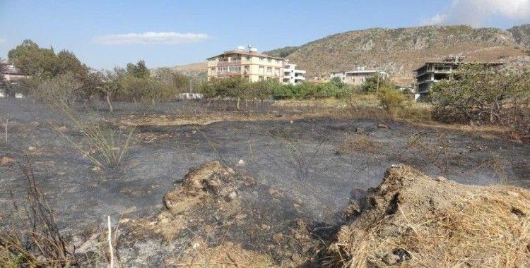 Hatay'da ikinci kez farklı noktada bahçe yangını
