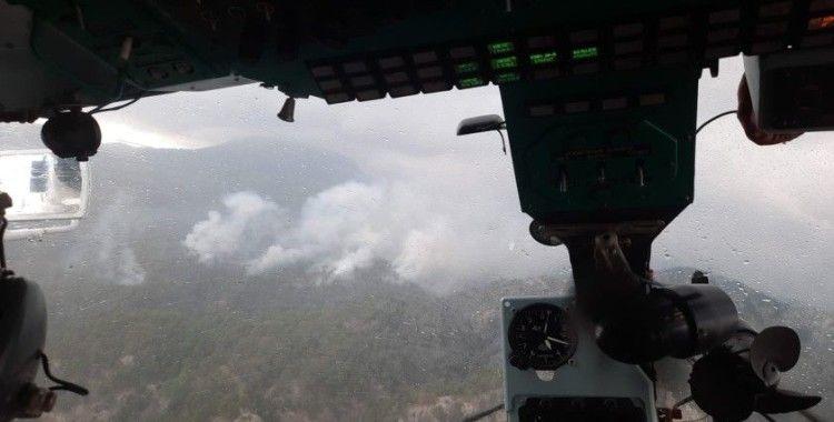 Antalya'da düşen yıldırım orman yangınına sebep oldu