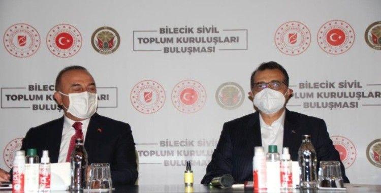 Bakanlar Dönmez ve Çavuşoğlu, Bilecik'te STK temsilcileriyle buluştu