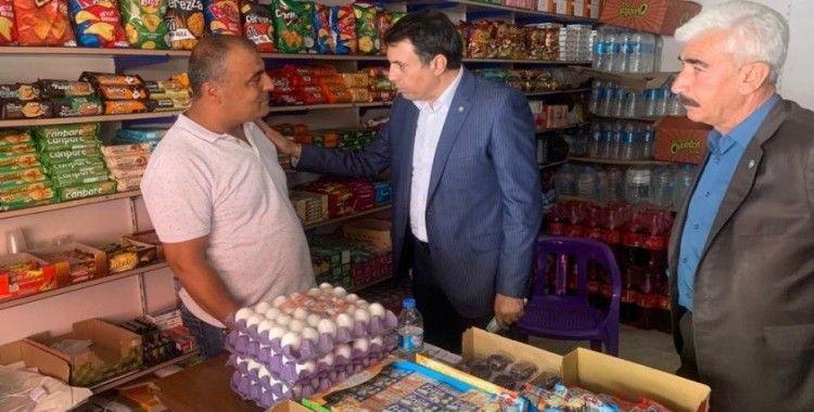 İYİ Parti Diyarbakır İl Başkanı Ensarioğlu esnafı ziyaret etti