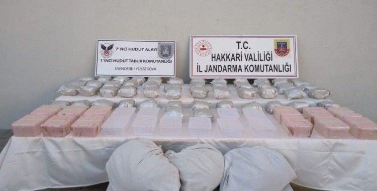 Yüksekova'da 98 kilo 600 gram uyuşturucu ele geçirildi