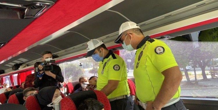 15 Temmuz Demokrasi Otogarı'nda aşı ve PRC testi denetimi