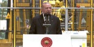 """Cumhurbaşkanı Erdoğan: """"Tabanca mermisi yapamayan ülkeyken füzesini yapan ülke haline geldik"""""""