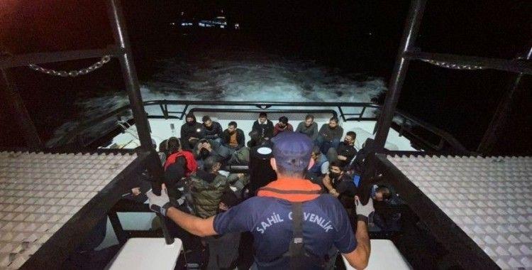 Çanakkale açıklarında 35 düzensiz göçmen yakalandı
