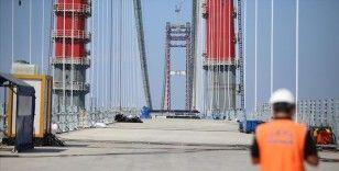 '1915 Çanakkale Köprüsü'nde 67 tabliyenin montajı tamamlandı