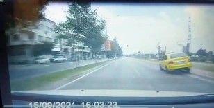 Bursa'da dalgın taksici yürekleri ağza getirdi