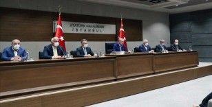 Erdoğan, ABD'ye hareketi öncesi Atatürk Havalimanı'nda basın toplantısı düzenledi