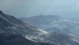 Palandöken'e ilk kar yağdı