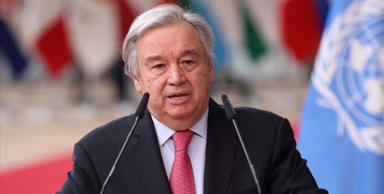 BM Genel Sekreteri Guterres: Korunmaya muhtaç mültecilere desteği için Türkiye'ye içten teşekkürlerimi sunuyorum
