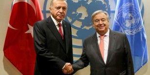 Cumhurbaşkanı Erdoğan, BM Genel Sekreteri Guterres ile bir araya geldi