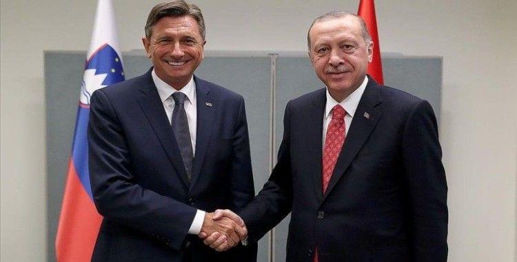 Erdoğan, New York'ta Slovenya Cumhurbaşkanı Pahor ile bir araya geldi