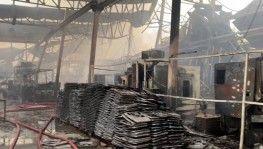 Şile'de yanan fabrikada oluşan tahribat gözler önüne serildi