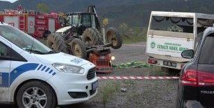 Takla atan traktörde 1 kişi öldü, 1 kişi yaralandı