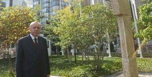 Cumhurbaşkanı Erdoğan'dan BM bahçesindeki Göbeklitepe dikilitaşının replikasına ilişkin paylaşım