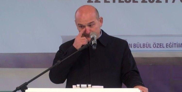 Bakan Soylu, Eren Bülbül adına yaptırılan okul açılışında duygulandı