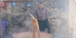 Gaziantep'te üzüm pekmezi mesaisi