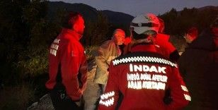 Ormanda arama kurtarma ekiplerine katılıp saatlerce kendisini aradı
