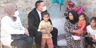 Hüseyin Beyoğlu, göreve geldikten sonra ziyaret ettiği ilk bölgedeki vatandaşları unutmadı