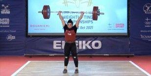 Milli halterci Sera Yenigün, Avrupa'da biri altın 3 madalya kazandı