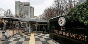Dışişleri Bakanlığı: Türkiye, Doğu Akdeniz'de hem kendi hem de KKTC'nin haklarını korumaya devam edecek