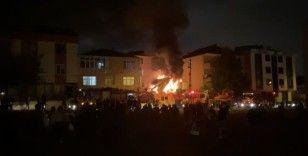 Ümraniye'de iş yerindeki yangında piknik tüpü patladı: 1 yaralı