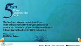 Bakan Özer'den öğretmenlere kutlama mesajı