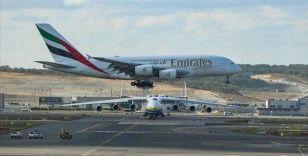 İstanbul Havalimanı'na inen dünyanın en büyük yolcu uçağı için tören düzenlendi
