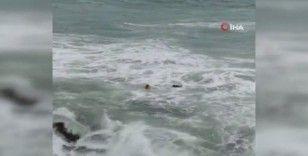 Denize düşen 4 kişiden 1'inin hayatını kaybettiği korkunç olayın görüntüsü ortaya çıktı