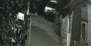 Sultangazi'de aracın kurşunlandığı anlar kamerada