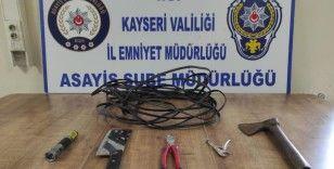 100 bin TL'lik kablo çalan şahıs yakalandı