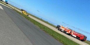 'Uçakta bomba var' ihbarı nedeniyle uçuşa kapatılan Trabzon Havalimanı yeniden hava trafiğine açıldı