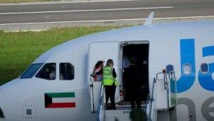 Cezire Havayolları'na ait uçak bomba ihbarı üzerine Trabzon'a acil iniş yaptı