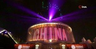 Dubai'deki Expo 2020'de ışık gösterileri hayran bırakıyor