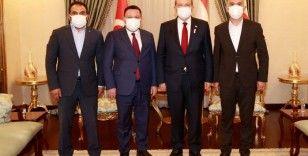 AK Partili Bağlar Belediye Başkanı Beyoğlu'ndan KKTC Cumhurbaşkanı Tatar'a ziyaret