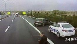 TEM Otoyolunda doktorun hayatını kaybettiği kaza anı kamerada